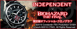 INDEPENDENT × BIOHAZARD THE FINAL 限定版クロノグラフ
